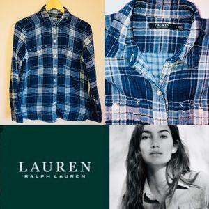 LAUREN Ralph Lauren Flannel Plaid Button Up Shirt